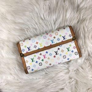 Louis Vuitton Multicolor Blanc Long Wallet